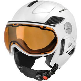 Slokker Raider Free Casco de esquí con Visor Poralizado, white